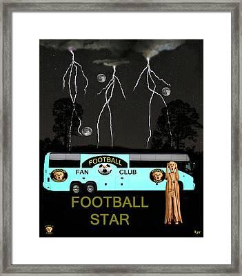 Scream Football Star Framed Print by Eric Kempson