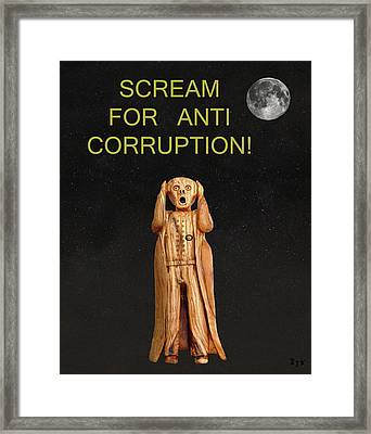 Scream For Anti Corruption Framed Print by Eric Kempson