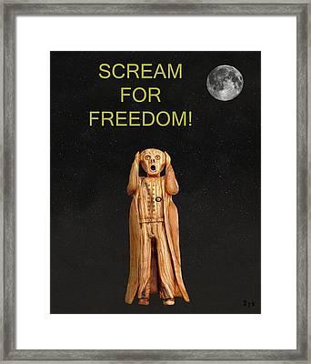 Scream For Freedom Framed Print