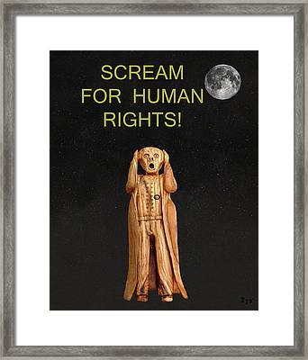 Scream For Human Rights Framed Print by Eric Kempson