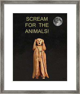 Scream For The Animals Framed Print