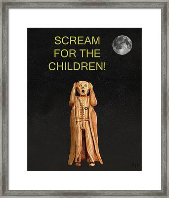 Scream For The Children Framed Print