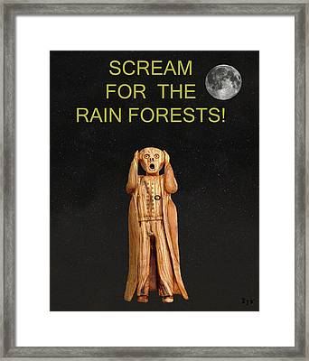 Scream For The Rain Forests Framed Print
