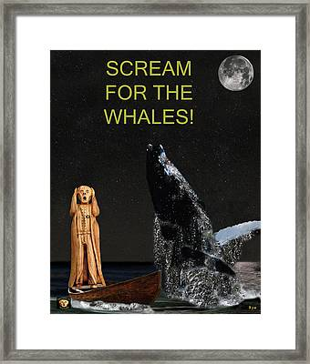 Scream For The Whales Framed Print