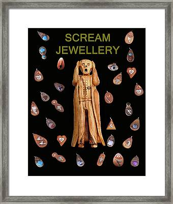 Scream Jewellery Framed Print by Eric Kempson