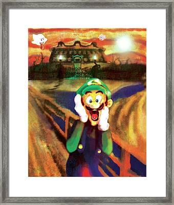 Scream Luigi Framed Print by Ivan Florentino Ramirez