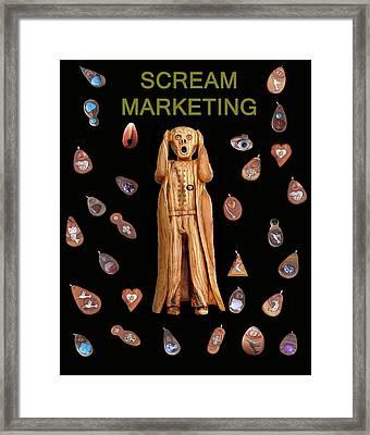 Scream Marketing Framed Print by Eric Kempson