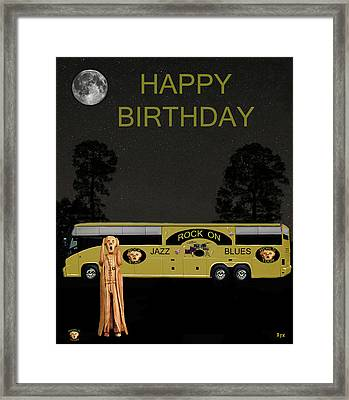 Scream Music Tour Happy Birthday Framed Print by Eric Kempson