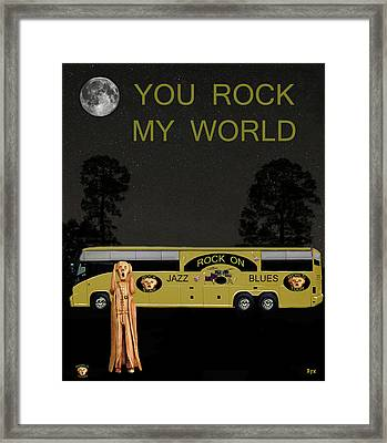 Scream Rock On Tour You Rock My World Framed Print by Eric Kempson