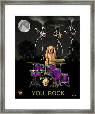 Scream Rock Soul Framed Print by Eric Kempson