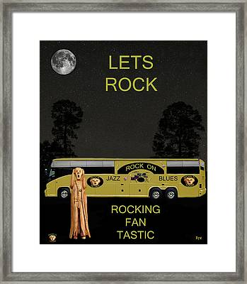 Scream Rock You Tour Framed Print by Eric Kempson