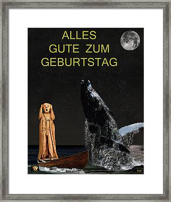 Scream With Humpback Whale German Framed Print by Eric Kempson
