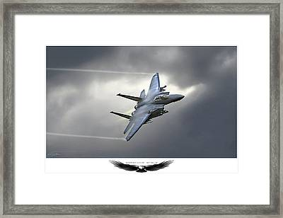 Screaming Eagle 2 Framed Print by Peter Chilelli