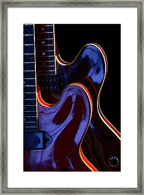 Screaming Guitars Framed Print by Art Ferrier
