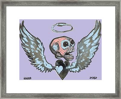 Screaming Hearts Framed Print by Robert Wolverton Jr