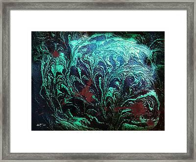 Screaming In The Dark Framed Print