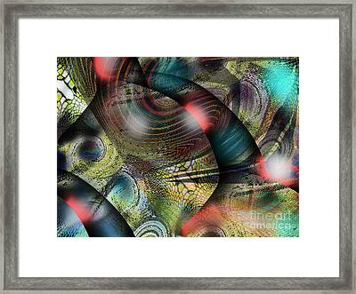 Screaming Spirals Framed Print