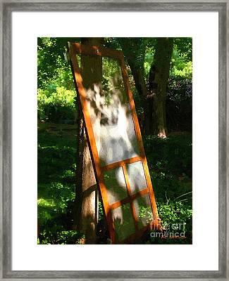 Screen Lean Framed Print by RC DeWinter
