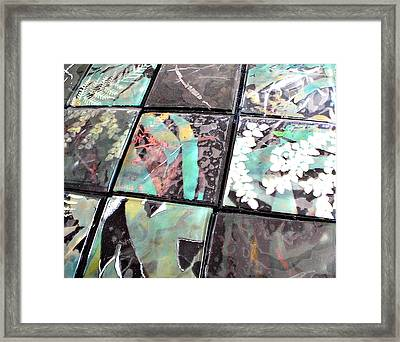 Screen Printed Glass Tiles Framed Print by Sarah King