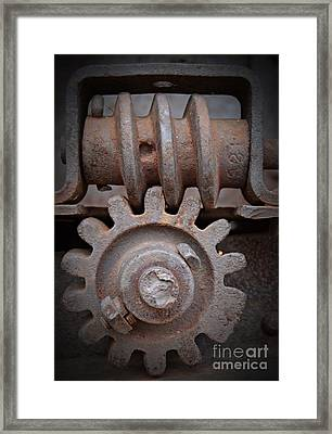 Screw And Gear  Framed Print
