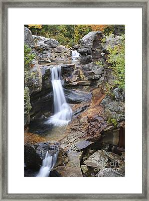 Screw Auger Falls - Maine  Framed Print