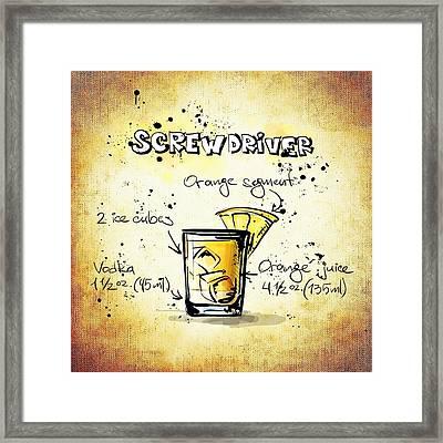 Screwdriver Framed Print by Movie Poster Prints