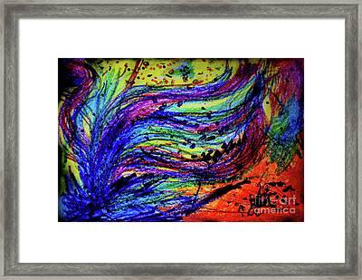 Scribble Framed Print by Karen Adams