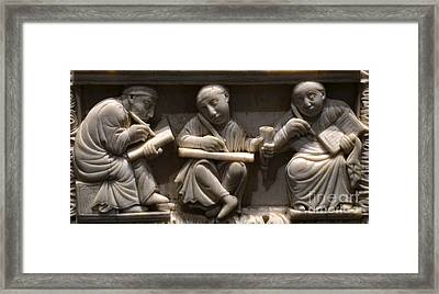 Scribes, 10th Century Framed Print by Science Source
