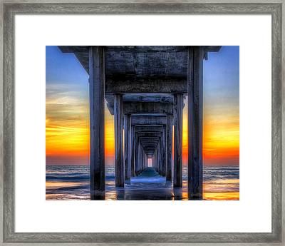 Scripp's Pier Sunset La Jolla California Framed Print