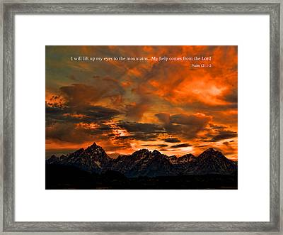 Scripture And Picture Psalm 121 1 2 Framed Print