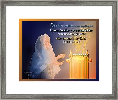 Scripture Art   Watchman's Prayer Framed Print