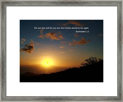 Scriture And Picture Ephesians 1 5 Framed Print by Ken Smith