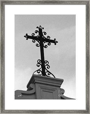 Scroll Across Heaven Framed Print