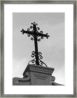 Scroll Across Heaven Framed Print