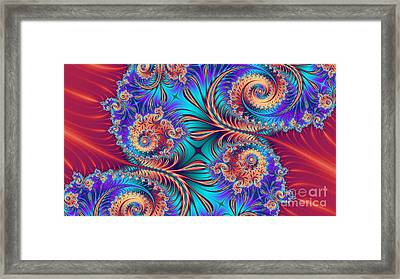 Scrolls And Whirls Framed Print by John Edwards