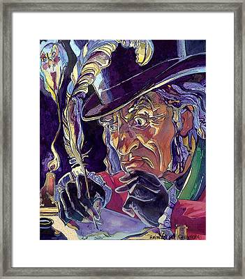 Scrooge And Marley's Ghost Framed Print by Tim  Heimdal