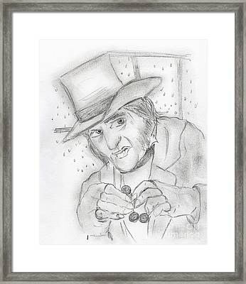 Scrooge Framed Print by Sonya Chalmers
