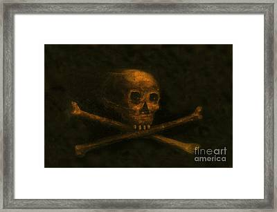 Scull And Crossbones Framed Print by David Lee Thompson