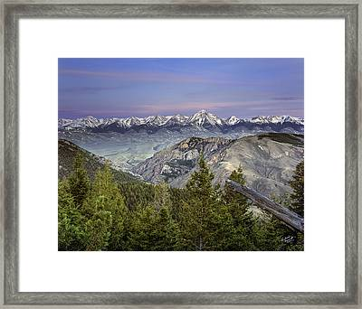 Scull Canyon Framed Print by Leland D Howard