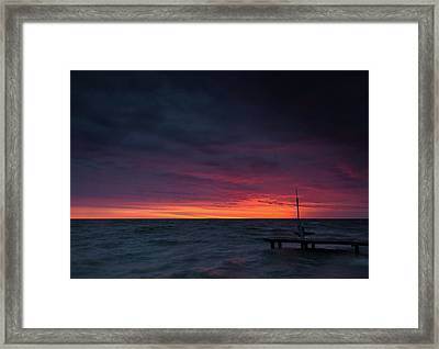 Scully Beach Park Sunrise Framed Print by Cale Best