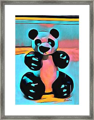 Sculpey Panda Bear Framed Print by Barbara Snyder