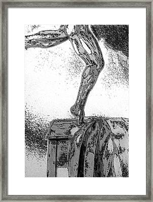 Framed Print featuring the drawing Sculpted by Barbara Giordano