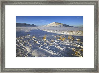 Sculpted By The Wind Framed Print by Mike  Dawson
