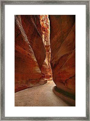 Sculpted By Wind And Water - Petra Framed Print by Nabila Khanam