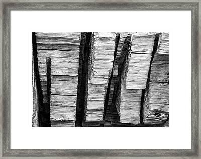 Sculpted Log Framed Print