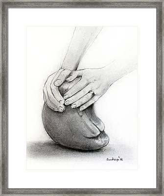 Sculptor's Hands Framed Print by Sundeep