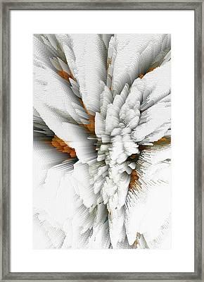Framed Print featuring the digital art Sculptural Series Digital Painting 05.072311 by Kris Haas