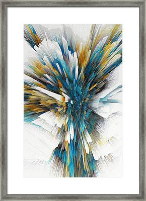 Framed Print featuring the painting Sculptural Series Digital Painting 08.072311ex490l by Kris Haas