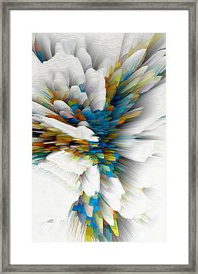 Framed Print featuring the digital art Sculptural Series Digital Painting 08.072311wscvssex490l by Kris Haas