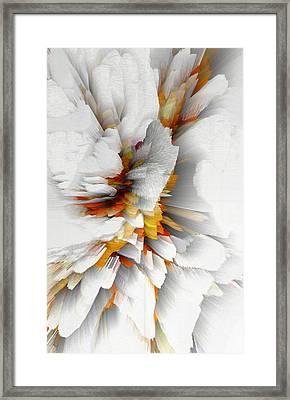 Framed Print featuring the digital art Sculptural Series Digital Painting 22.120210 by Kris Haas